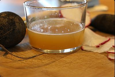 Recette sirop de radis noir- ruche Lavalette
