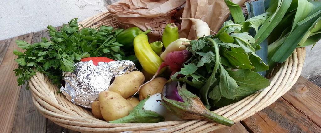 Panier bio de fruits et légumes de la Ruche qui dit Oui!