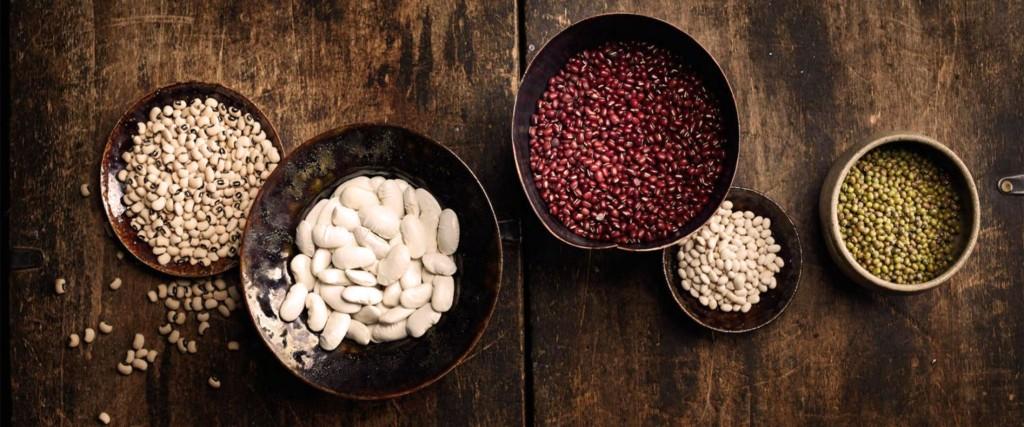 Les différents haricots secs.