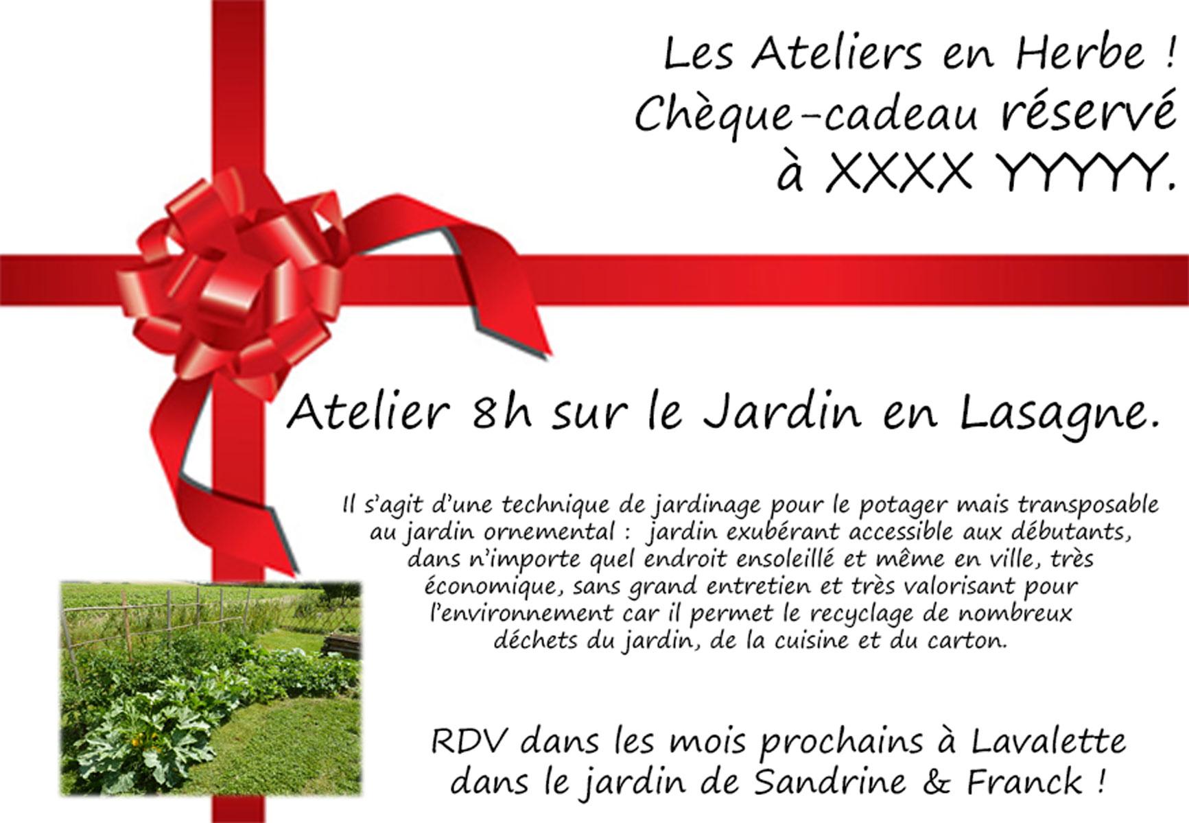 Carte cadeau Noël 2018 - Les Ateliers en Herbe.